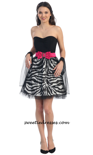 Heart zebra tulle dress