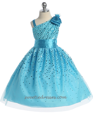 Adorable ribbon glittered girl dress