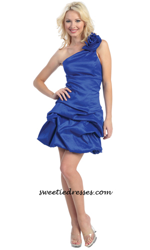 Taffeta open back pickup dress