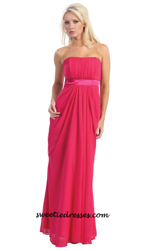 Strapless plain elegance dress