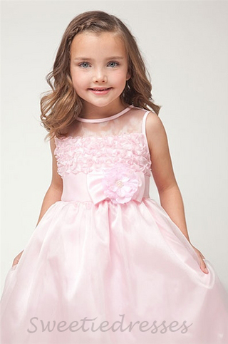 Ruffled Organza Overlay Dress