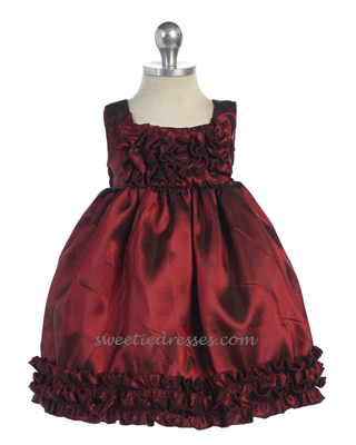 Lovely floral taffeta baby dress