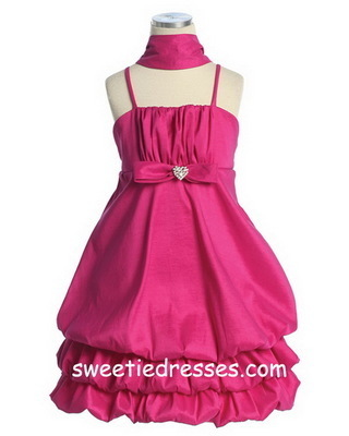 Taffeta Sleeveless Bubble Dress
