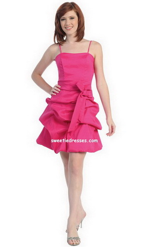 Pick-up Style Taffeta Lady's Dress