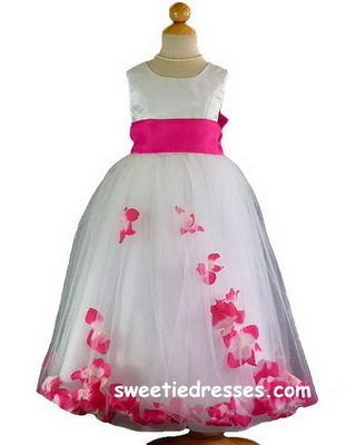 Flower Petal Sleeveless Girl Dress - Flower Girl Dresses
