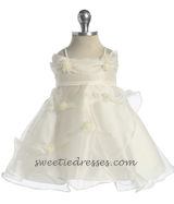 Off shoulder pick-up baby dress