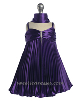 Satin pleated baby dress