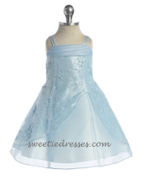 Simply beeded rhinestone baby dress